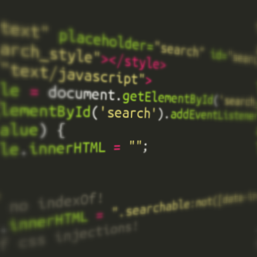 Client-side full-text search in CSS